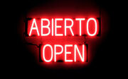 Spellbrite Ultra-bright Abierto Open Sign Neon Look Led Performance