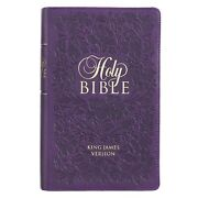 Purple Faux Leather Giant Print King James Version Bible With Thumb Index New