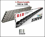 D.i.d Did 530 Vo Oring Motorcycle Drive Chain Natural With Rivet Master Link