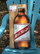 Red Stripe Bottle Metal Beer Sign Man Cave New 24andrdquox 9.74andrdquo