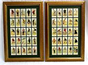 Framed Golf Set-vintage 1880 Copes Golfers Trade Cards 100th Anv Iss.-great Gift