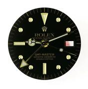 Vintage Menand039s Rolex Gmt Master 1675 Black Nipple Dial And Hands Set 2/t B18