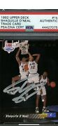 Shaquille O'neal Signed 1992 Upper Deck 1b Rc Rookie Hof Psa/dna Auto Magic