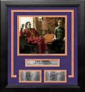 Joaquin Phoenix And Heath Ledger Jokers 8x10 Framed Photo With Engraved Autographs