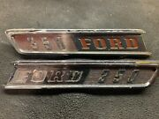 1967 Ford 350 Emblems Left And Right C7tb-16720-c. C7tb-16721-c.