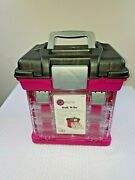 Grab N' Go Rack Pro-latch Utility Organizers Boxes Storage Sewing Crafts Pink