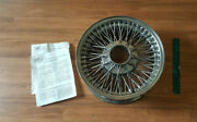 One 1 Dayton Wire Wheels Chrome 1966 Cadillac Fleetwood In Box With Documents.
