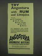 1949 Angostura Aromatic Bitters Ad - Try Angostura With Rum And Limejuice