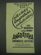1949 Angostura Aromatic Bitters Ad - When Drinking Your Straight Rum