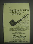 1953 Barling Pipes Ad - He'd Like A Barling On Father's Day June 20th