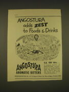 1955 Angostura Aromatic Bitters Ad - Angostura Adds Zest To Foods And Drinks
