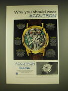 1963 Bulova Accutron Spaceview And 401 Watches Ad - Why You Should Wear Accutron