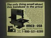 1985 Emco Bs-3 Benchtop Bandsaw Ad - The Only Thing Small About This