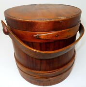 Extremely Rare Primitive Firkin Marked Our Centennial Best 1775 - 1875