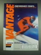 1987 Vantage Cigarettes Ad - Performance Counts. The Thrill Of Real Cigarette