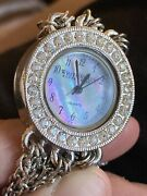 White House Black Market Watch Mother Of Pearl Face With Multiple Chain Bands