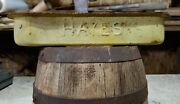 Vintage Metal Hayes Tractor Toolbox Rare Old Antique Farm Equipment Ironpaint