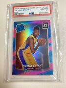 2017 Optic Thomas Bryant Pink Holo Rated Rookie 3/25 Psa 10 Rc Wizards - 2037