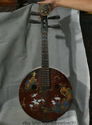 34 Old Chinese Dynasty Lacquerware Wood Handmade Lute Piano Zither Zithern Pipa