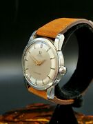 Vintage Omega Seamaster 1950and039s Automatic 19 J Caliber 501 Dress Mens Watch