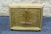 + Nice Older Antique Tabernacle With Key + 16 Wide + Chalice Co. Cu558