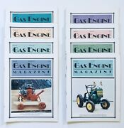 Lot Of 8 Gas Engine Tractor Collector Magazines 1993 Ag 4h Homeschool Farming