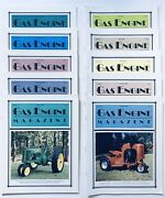 Lot Of 10 Gas Engine Tractor Collector Magazines 1996 Ag 4h Homeschool Farming