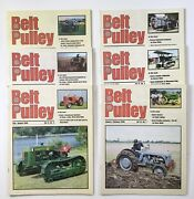 Lot Of 6 Belt Pulley Tractor Collector Magazines 2000 Engines Motors Ag 4-h Farm