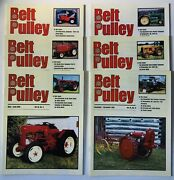 Lot Of 6 Belt Pulley Tractor Collector Magazines 2001 Engines Motors Ag 4-h Farm