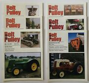 Lot Of 6 Belt Pulley Tractor Collector Magazines 2004 Engines Motors Ag 4-h Farm