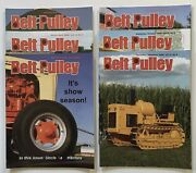Lot Of 6 Belt Pulley Tractor Collector Magazines 2008 Engines Motors Ag 4-h Farm