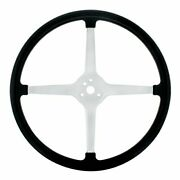 15-in Chrome Plated 3-bolt Track Style Steering Wheel With Rubber Grip
