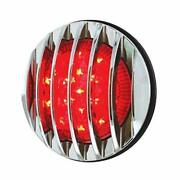 17 Led 1937 Ford Car Style Tail Light With Chrome Grille Style Flush Mount