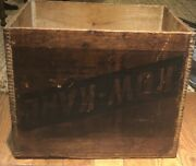 Vintage Kow Kare Wood Crate Dovetailed Lyndonville Vt Dairy Veterinary Farm