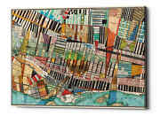 Epic Graffiti 'modern Map Of Montreal' By Nikki Galapon Giclee Canvas Wall Art