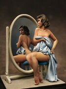 Suncare Andrea Miniatures Pin Up 21 Painted Figure 80mm 1/22 Girl Mirror Tanning