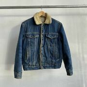 Vintage 80and039s Silver Spur Sherpa Trucker Jacket Type 3 - Small