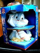 Vintage 1997 Looney Tunes Bugs Bunny Cookie Jar By Gibson Inc. Never Opened Mib