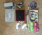 Nintendo Wii Minired With Power Cord, Av Cable, Sensor Bar, Wii Remote And Games