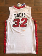 Shaquille Oand039neal Signed Authentic Miami Heat Jersey Shaq Autographed Psa Witness