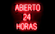 Spellbrite Ultra-bright Abierto 24 Horas Sign Neon Look Led Performance