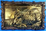 Fine Art 3d Lioness Cnc Wood Carving Recycled Pine Wood Custom New