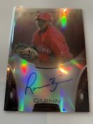 2013 Bowman Sterling Prospect Roman Quinn Red Refractor Auto Rc 1/1 Phillies