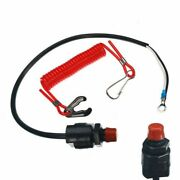 Outboard Kill Switch Plastic Engine Safety Lanyard Replacement Durable
