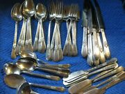 46 Pieces Adoration 1847 Rogers Silverplate Service For 6 Plus