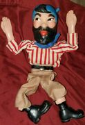Hazelle's Marionette Pirate With Beard, 12 Long Needs Strings.