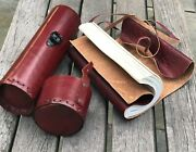 7x5 Vintage Handmade Scroll Leather Journal Travel Diary Leather Bound Notebook