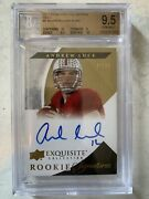 2012 Exquisite Collection Gold Andrew Luck Rc Auto 27/99 Bgs 9.5/10 Gem Mint