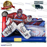 13x13ft Commercial Inflatable Ice Hockey Bounce House With Air Blower