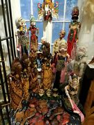 Antique And Vintage Wayang Golek Puppets Java Hand Made You Choose Which One